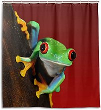 CPYang Shower Curtains Tropical Animal Frog