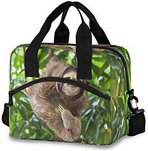 CPYang Sloth Jungle Leaves Lunch Bag Reusable