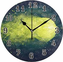 CPYang Sport Ball Tennis Wall Clock, Silent