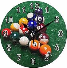 CPYang Sport Billiard Ball Wall Clock, Silent