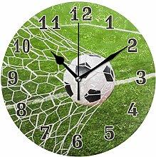 CPYang Sport Football Goal Net Wall Clock, Silent