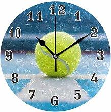 CPYang Sport Tennis Ball Wall Clock, Silent