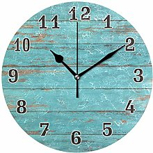 CPYang Vintage Beach Wood Wall Clock, Silent