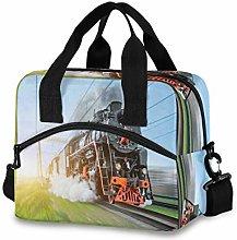 CPYang Vintage Locomotive Train Lunch Bag Reusable