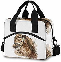 CPYang Watercolor Horse Pattern Lunch Bag Reusable