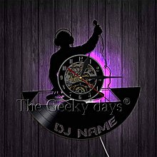 CQAZX Wall clock DJ vinyl record wall clock