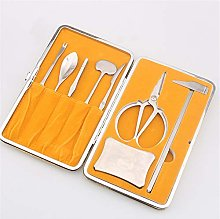 Crab Cutlery 8 Piece Set Seafood Tools Lobster Biscuits Fashion and Heavy Seafood Buffs Including Crab Hammer/Fork/Axe/Knife/Spoon/Scorpion/Scissors/Pier