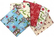 Craft Cotton Fabric Bundle Christmas Birdhouse