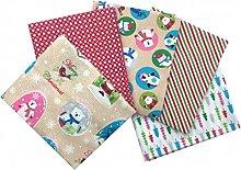 Craft Cotton Fabric Bundle Novelty Snow Lobes