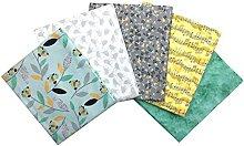Craft Cotton Fat Quarter Fabric Bundle Songbird