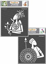 CrafTreat African Tribal Stencils for Crafts