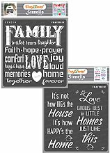 CrafTreat Family Quote Stencils for Furniture