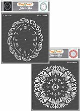 CrafTreat Floral Stencils for Furniture Painting -