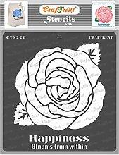 CrafTreat Flower Stencils for Crafts Reusable