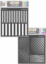 CrafTreat Geometric Pattern Stencils for Furniture