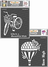 CrafTreat Home Decor Stencils for Crafts Reusable