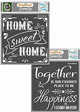 CrafTreat Home Stencils for Crafts Reusable
