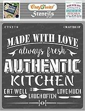 CrafTreat Kitchen Stencils for Crafts Reusable