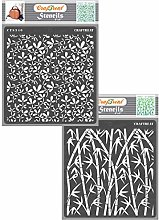 CrafTreat Leaf Stencils for Furniture Painting -