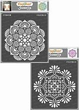 CrafTreat Mandala Stencils for Crafts Reusable