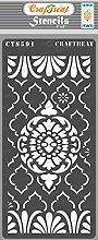 CrafTreat Mixed Media Stencils for Crafts Reusable