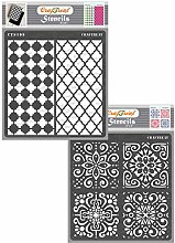 CrafTreat Moroccan Stencils for Furniture Painting