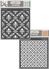 CrafTreat Pattern Stencils for Crafts Reusable