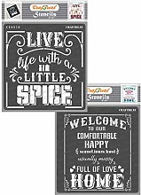 CrafTreat Quote Stencils for Crafts Reusable