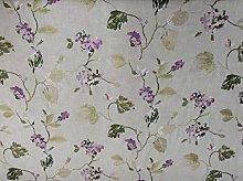 Cranbourne Embroidered Amethyst Floral Linen