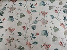 Cranbourne Peacock Embroidered Linen Curtain
