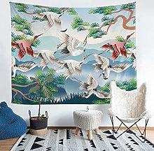 Crane Print Tapestry Wall Hanging Girly Chic