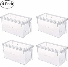 Cratone 4 Pack Storage Box with Handle Lids