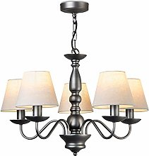 Craven Ceiling 5 Light Chandelier Pendant - Pewter