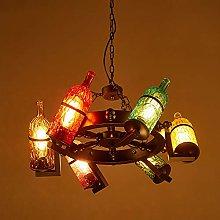 Crayom 6 Lights Chandeliers Lamps Antique Bottle