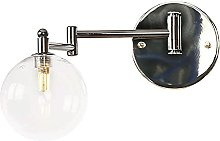 Crayom Vintage Wall Light with Globe Glass Shade,