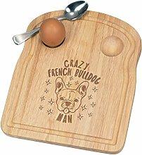 Crazy French Bulldog Man Stars Breakfast Dippy Egg