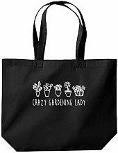 Crazy Gardening Lady Tote Shopping Gym Beach Bag