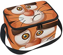 Crazy Tiger Lunch Box Insulated Lunch Bag Large