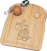 Crazy Turtle Boy Breakfast Dippy Egg Cup Board