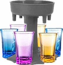 Crazyfly 6 Shot Glass Dispenser Holder,Drinks