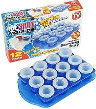 CrazyGadget 12 x Ice Shot Plastic Frozen Party
