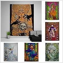 Crazynekos Anime Painting Trippy Tapestry Art Wall