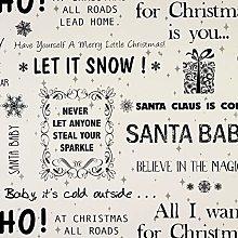 Cream and Black Santa Baby Christmas Wipe Clean