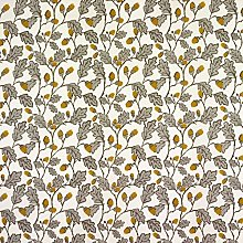 Cream and Grey Acorns and Leaves Oilcloth