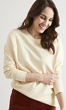 Cream Boxy Sweatshirt - 12