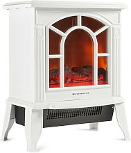 Cream Electric Freestanding Fireplace Stove Heater