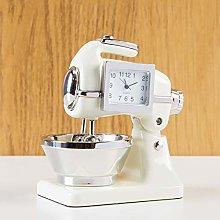 Cream Food Mixer Miniature Desk Clock Cooks Chef