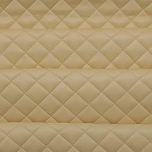 Cream Quilted Leather Diamond Stitch Padded
