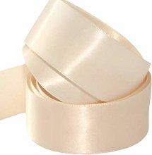 Cream Satin Ribbon - 50mm Wide - 5 Meter - GCS