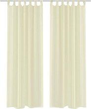 Cream Sheer Curtain 140 x 175 cm 2 pcs VD00218